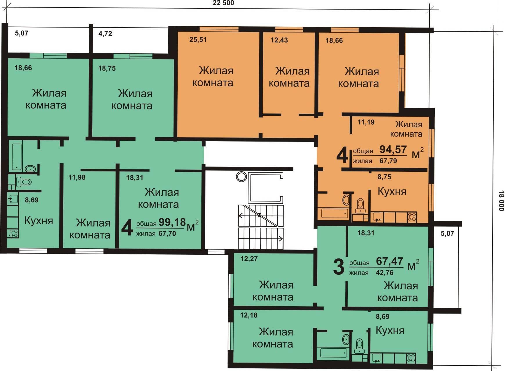 панельный дом схема квартир