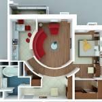 Дизайн однокомнатной квартиры – выбираем из многообразия